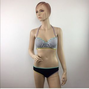 Victoria's Secret Colorblock Bikini 32C/ Medium